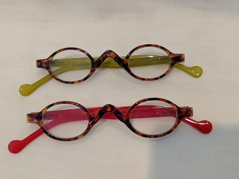 5b89689b1fd Harper Small Oval Retro Reading Glasses Red/Olive. SALE (2) FOR $15 ...