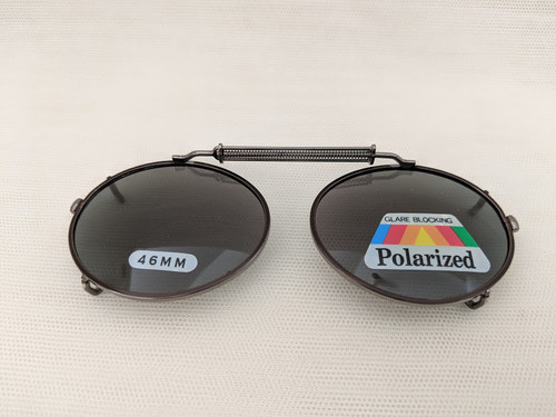 Small polarized child's size oval clip on 46mm