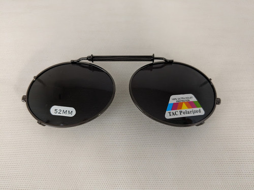Medium Oval Polarized Clip on 52mm GUNMETAL