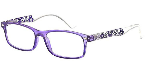 Translucent Plastic Women's Reading glasses PURPLE