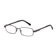 Royce gunmetal large half frame men's reader