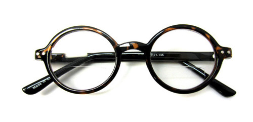 Round school boy plastic reading glasses unisex
