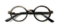 Round school boy plastic reading glasses unisex