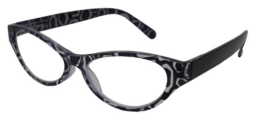 small cats eye plastic frame low power .75