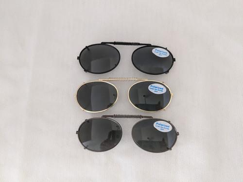 Very Small Oval Polarized Clip On Sunglasses