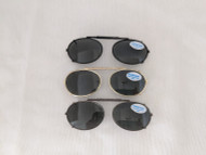 Very Small Oval Polarized Clip On Sunglasses