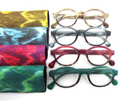 Marley Plastic Round Women's reading glasses 1.00 to 3.25 powers