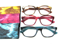 Lola full plastic fashion reading glasses (1.00 to 3.25 powers)