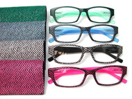 Nico Herringbone Half Plastic reading glasses (Power 1.00 to 3.00)