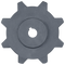 Bobcat MT52 Drive Sprocket Top View - Part Number: 7107228