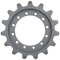 Caterpillar 259B-3 Drive Sprocket  Side View  - Part Number: 304-1870