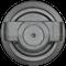 Kubota KX080-4 Bottom Roller  Side View  - Part Number: RD809-21703
