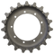 Caterpillar 304CR Drive Sprocket  Side View  - Part Number: 158-4795
