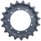 Takeuchi TB045 Drive Sprocket  Side View  - Part Number: 02616-03100