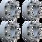 8 Lug 2 Inch Gray Skid Steer Wheel Spacer 8x8 Set
