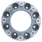 8 Lug 2 Inch Gray Skid Steer Wheel Spacer 8x8 Front View