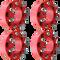 8 Lug 2 Inch Red Skid Steer Wheel Spacer 8x8 Set