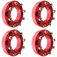 8 Lug 2 Inch Red Skid Steer Wheel Spacer 8x8 Set