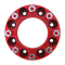 8 Lug 2 Inch Red Skid Steer Wheel Spacer 8x8 Front View
