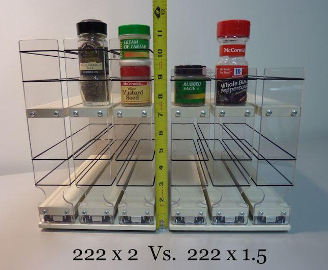Spice rack to help with kitchen organization