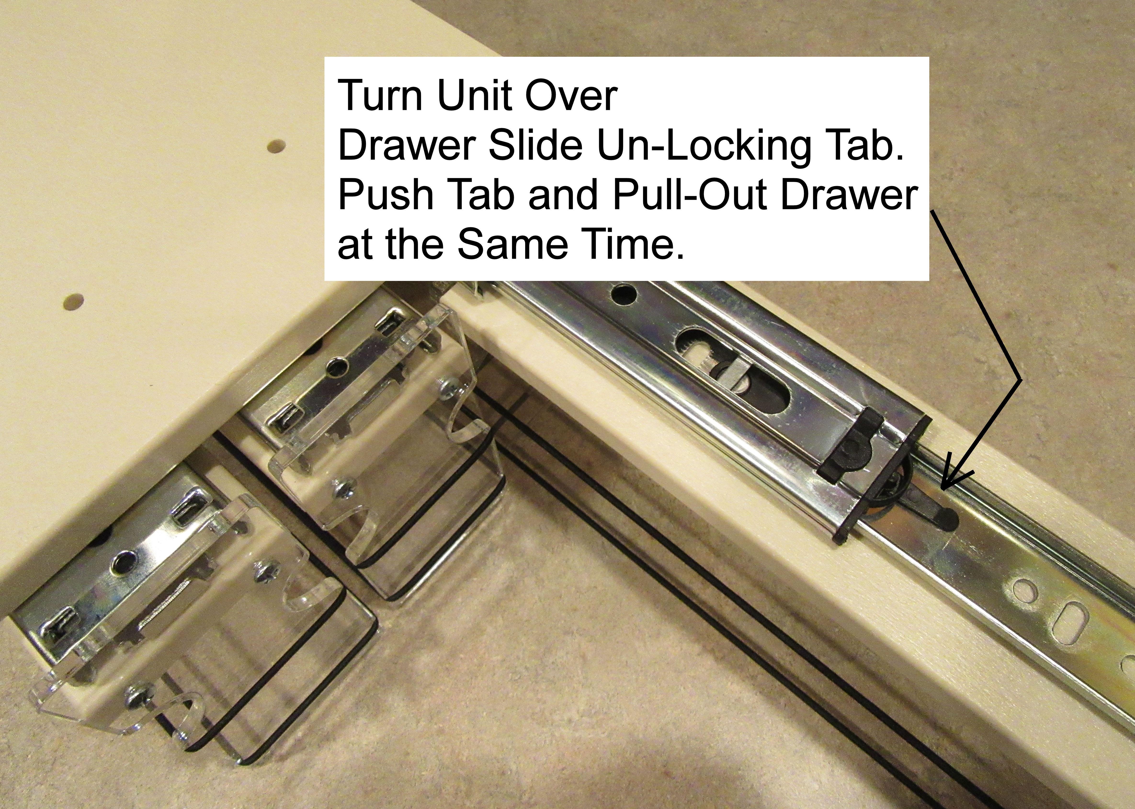 Spice Rack Drawer Locking Tab