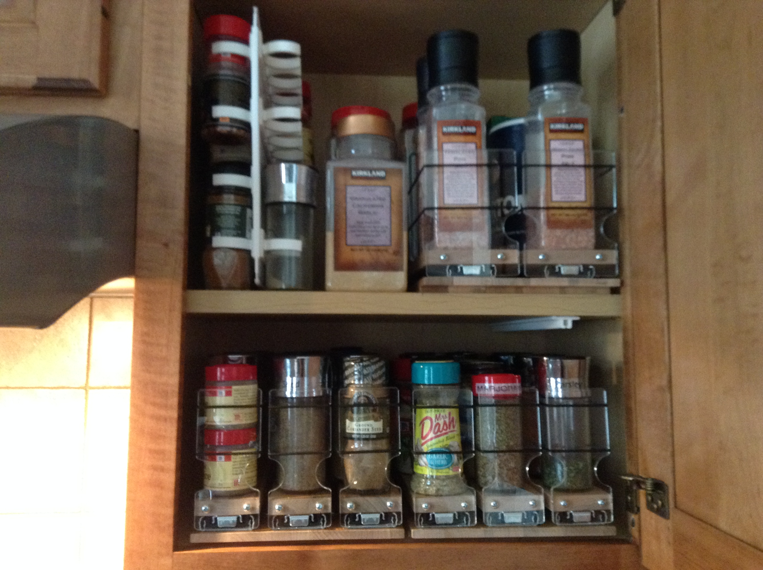 Spice Racks, Maple 33x1x11 Up, (2) 222x1x11 Below