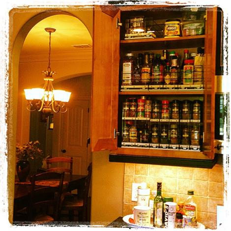 Cabinet Organization Vertical Spice
