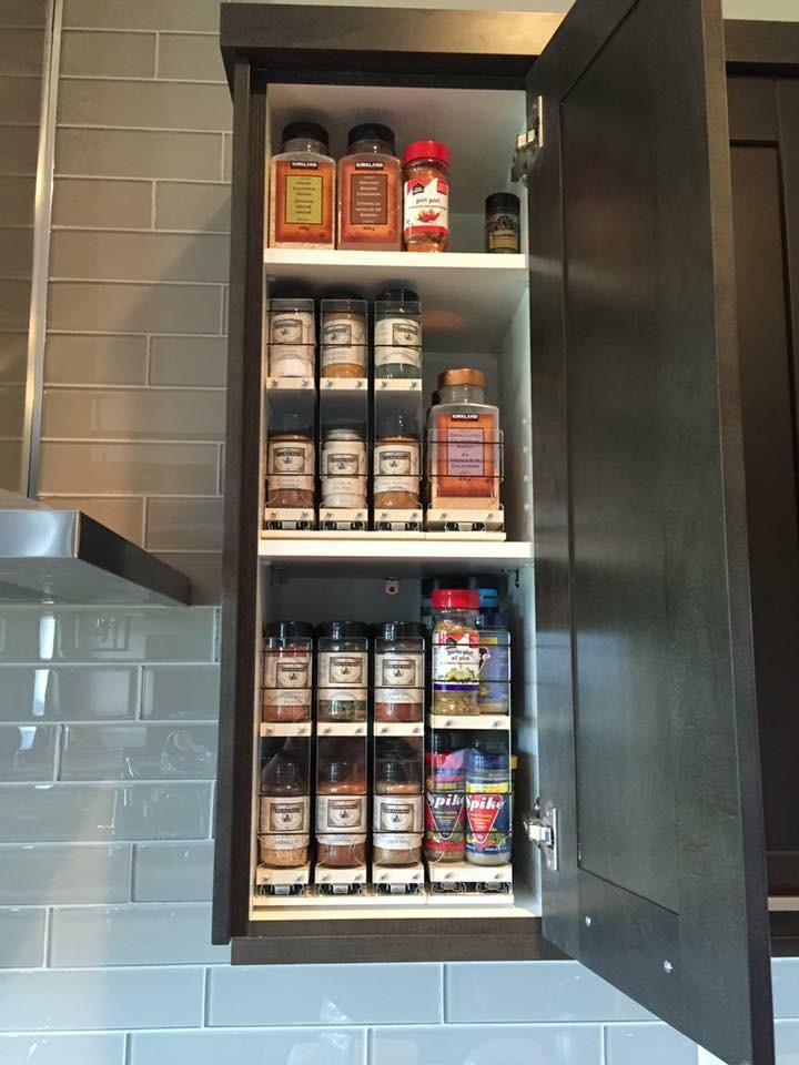 Spice Racks on 2 Shelves