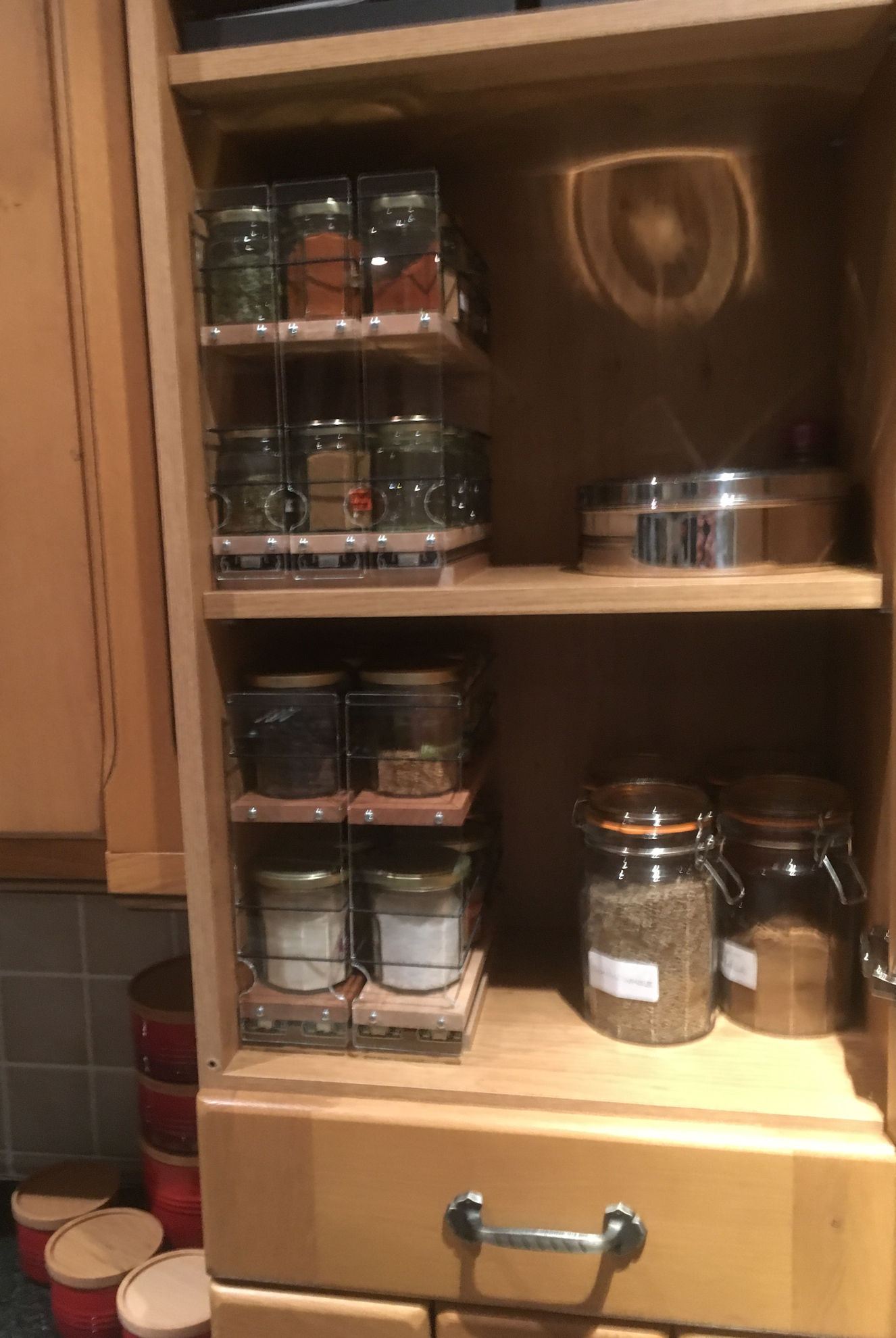 222x2x11 and 33x2x11 Spice Rack