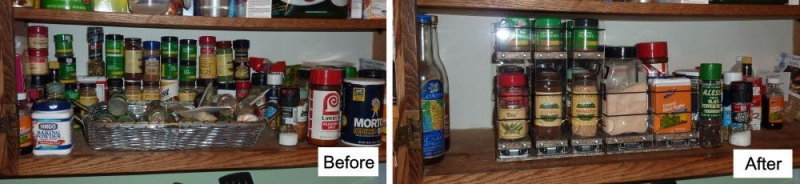 Kitchen Cabinet Spice Rack