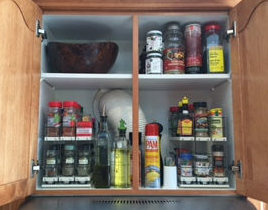 Over Microwave Cabinet Organizer