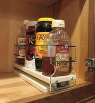 Spice Rack 3 x 1 x 11, Cream - In cabinet