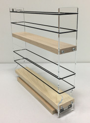 "2x2x11 Spice Rack, Maple Unit: 2.3"" wide x 10.75"" tall x 10.6"" depth Drawers: (1) 2.1"" wide x 10.05"" long"