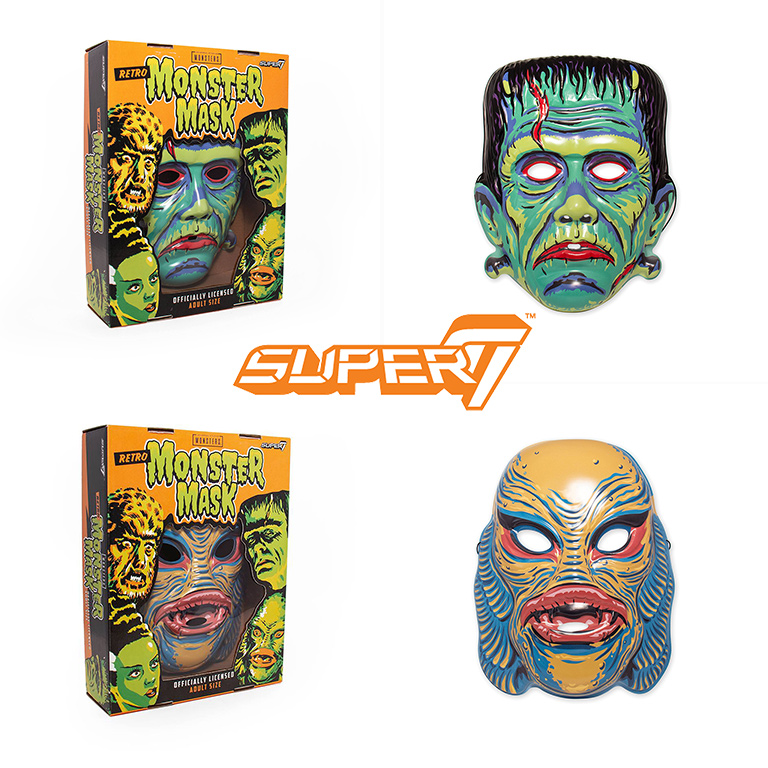 Officially Licensed Super7 X Universal Monsters Wearable Masks Retro A Go Go