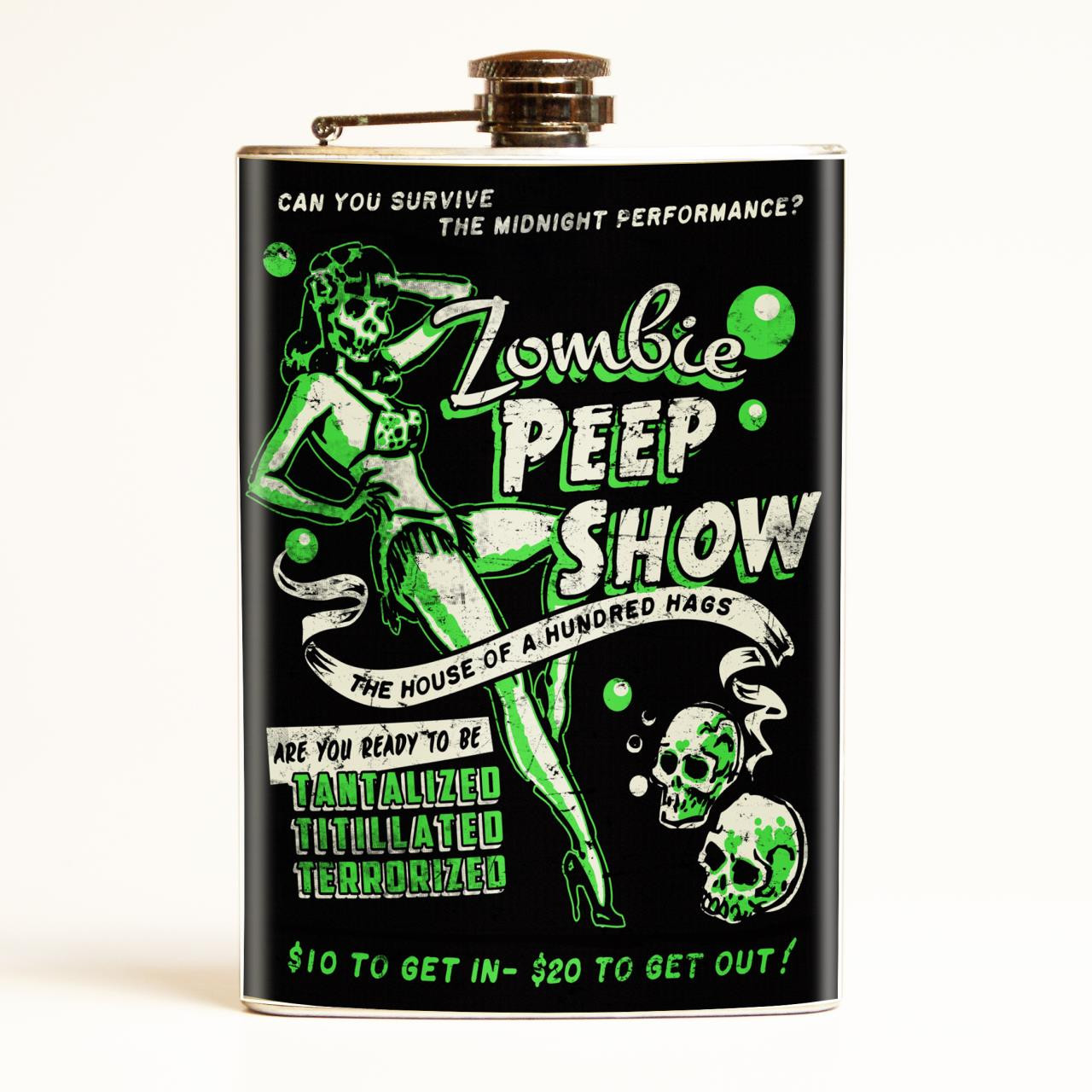 Zombie Peep Show Flask-OUT OF STOCK - 0641938654561