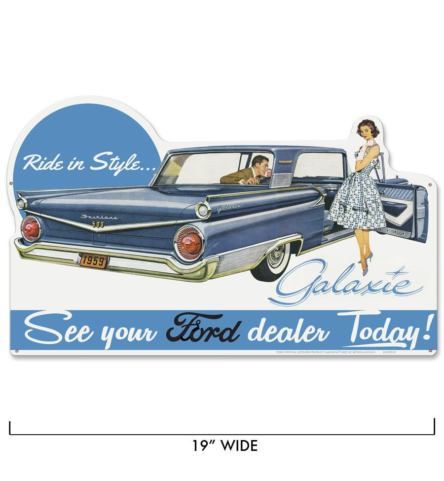 Ford Galaxie Metal Sign