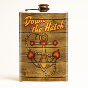 Down the Hatch Anchor Flask