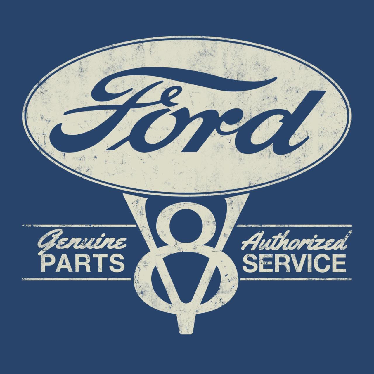 Ford genuine parts v8 mens t shirt retro a go go