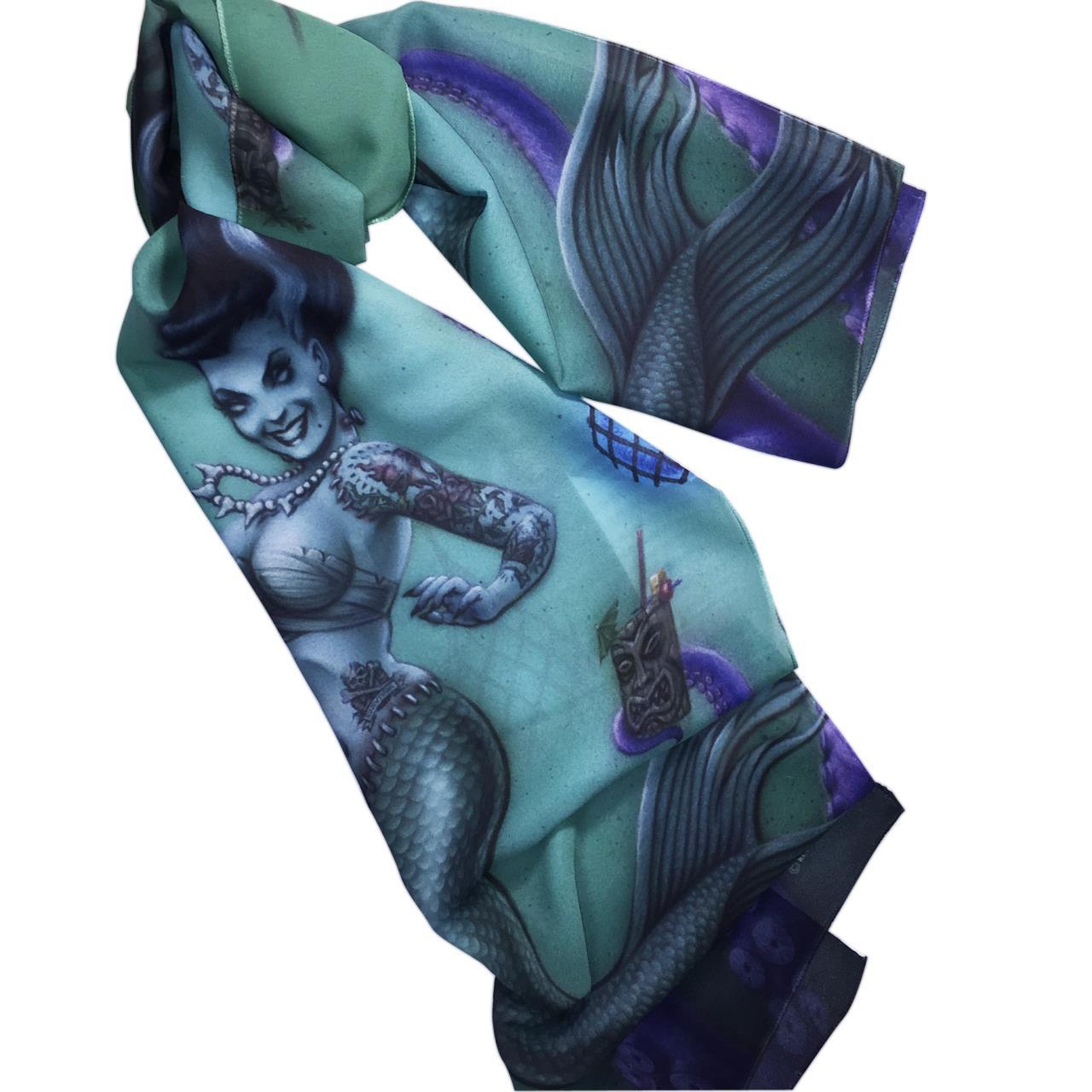 Franken Mermaid Fashion Scarf -