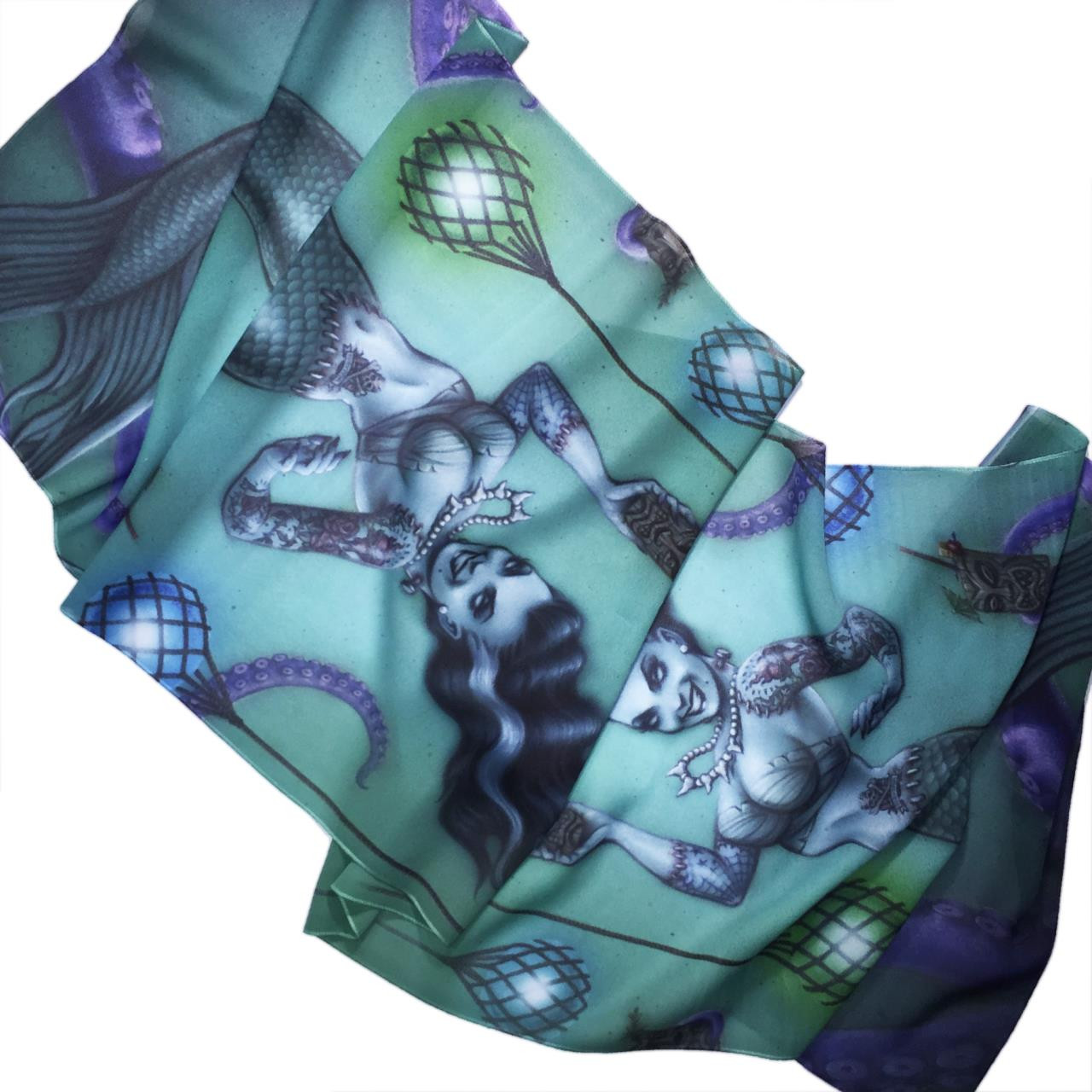 Franken Mermaid Fashion Scarf -