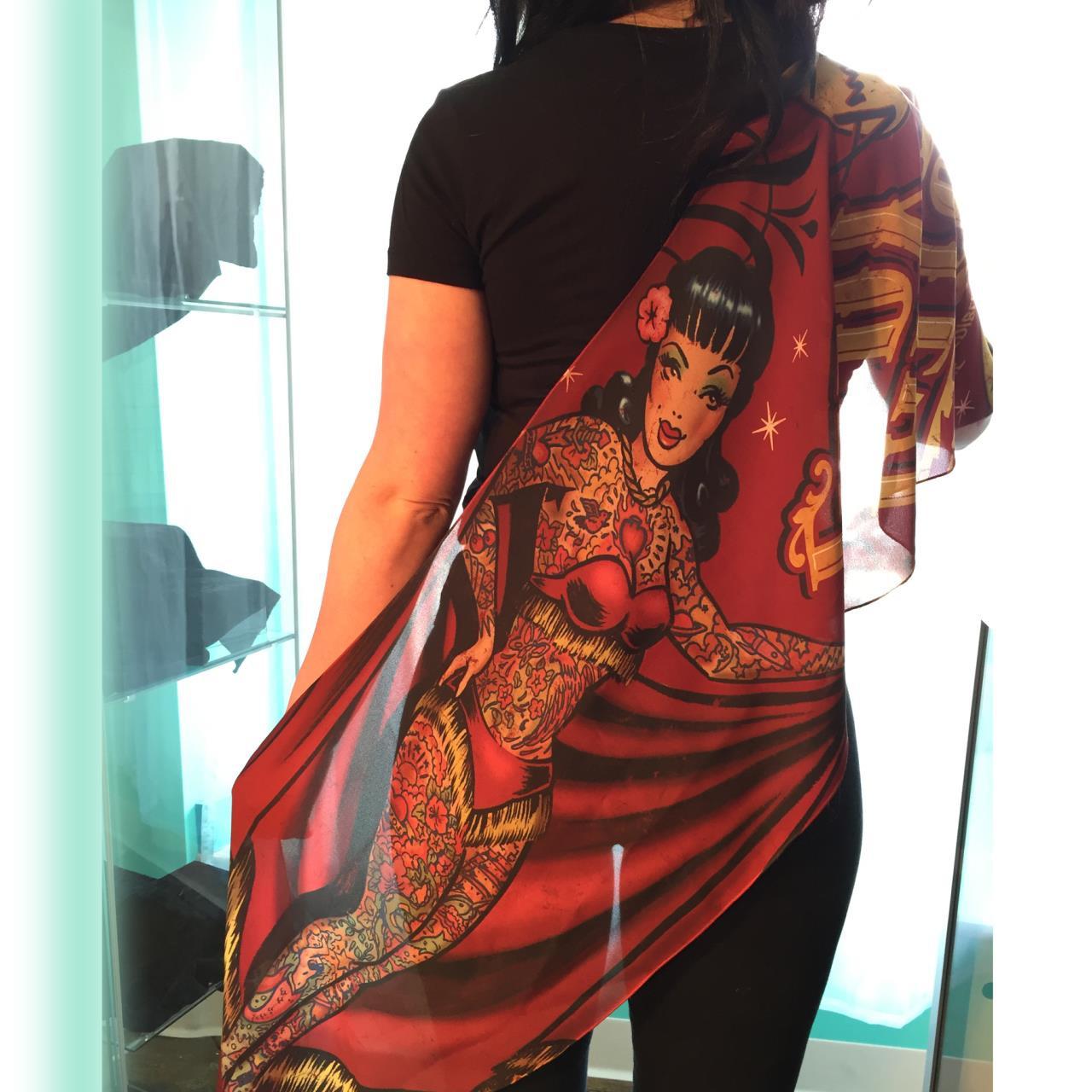 Tattooed Lady Fashion Scarf -