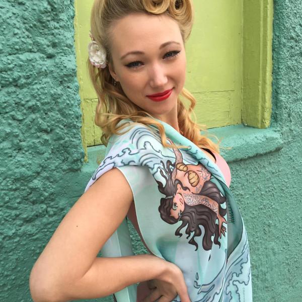 Tattoo Mermaid Fashion Scarf -