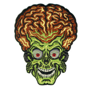 Mars Attacks Alien Head Patch - 0641938656077
