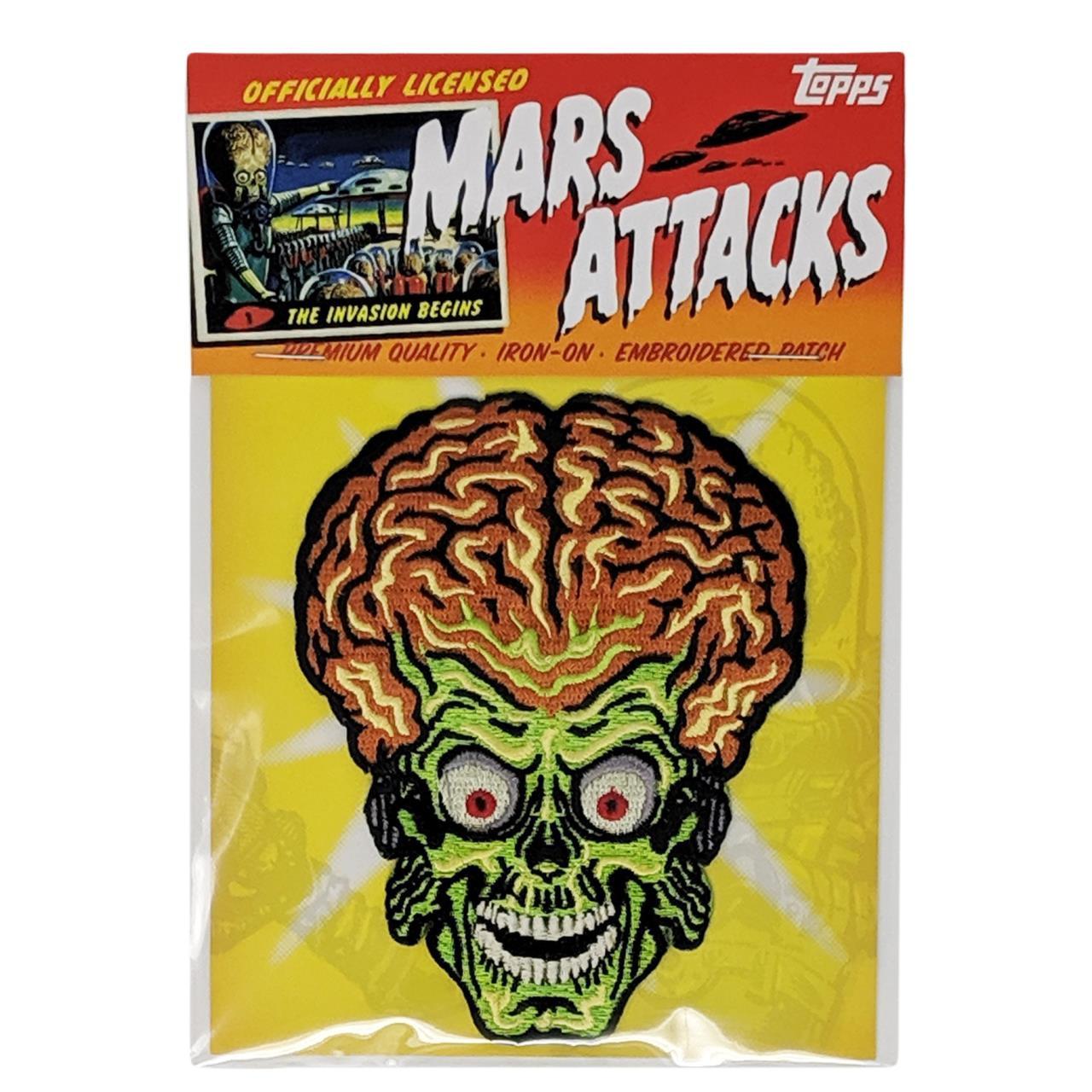 Mars Attacks Alien Head Patch - 0641938656077