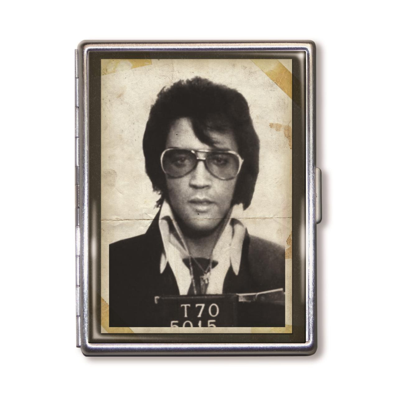 """The King"" Police Photo Cigarette Case -"