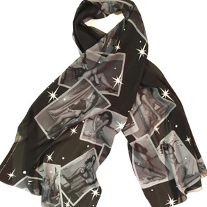 Bettie Page Peep Show Fashion Scarf* -