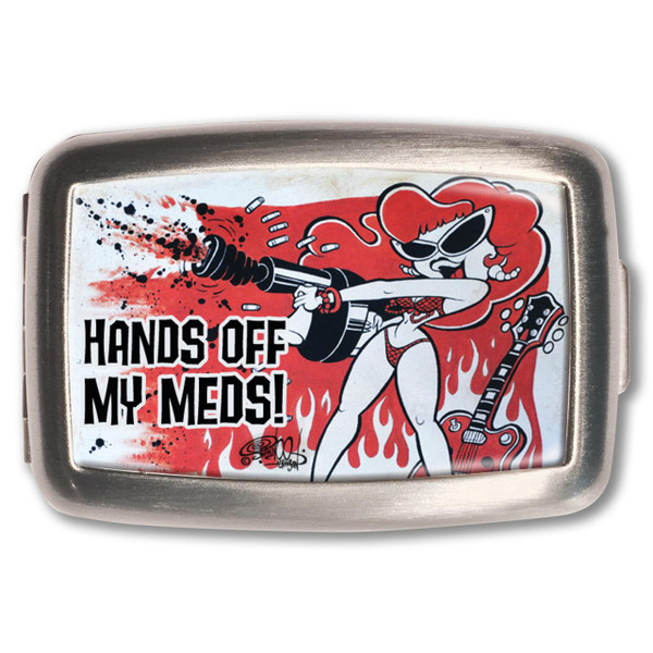 Hands Off My Meds! Pill Box -
