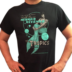 Bettie Page Mermaid Review Men's T-Shirt* -