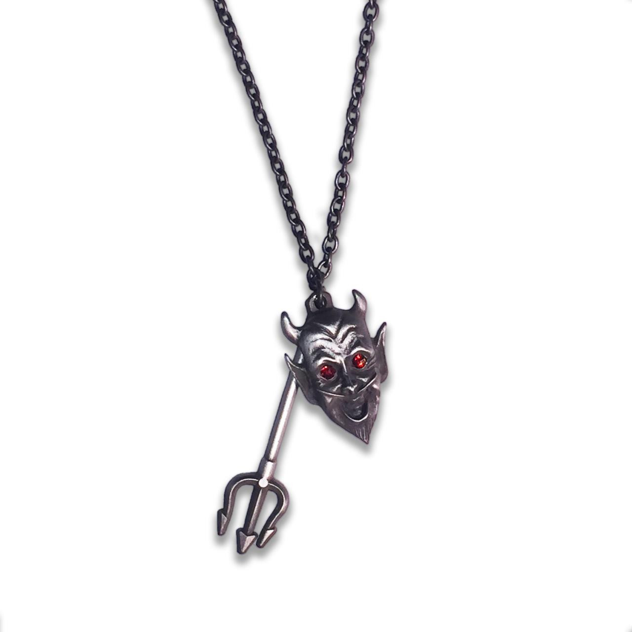 Devil Made Me Do It Charm Necklace* -