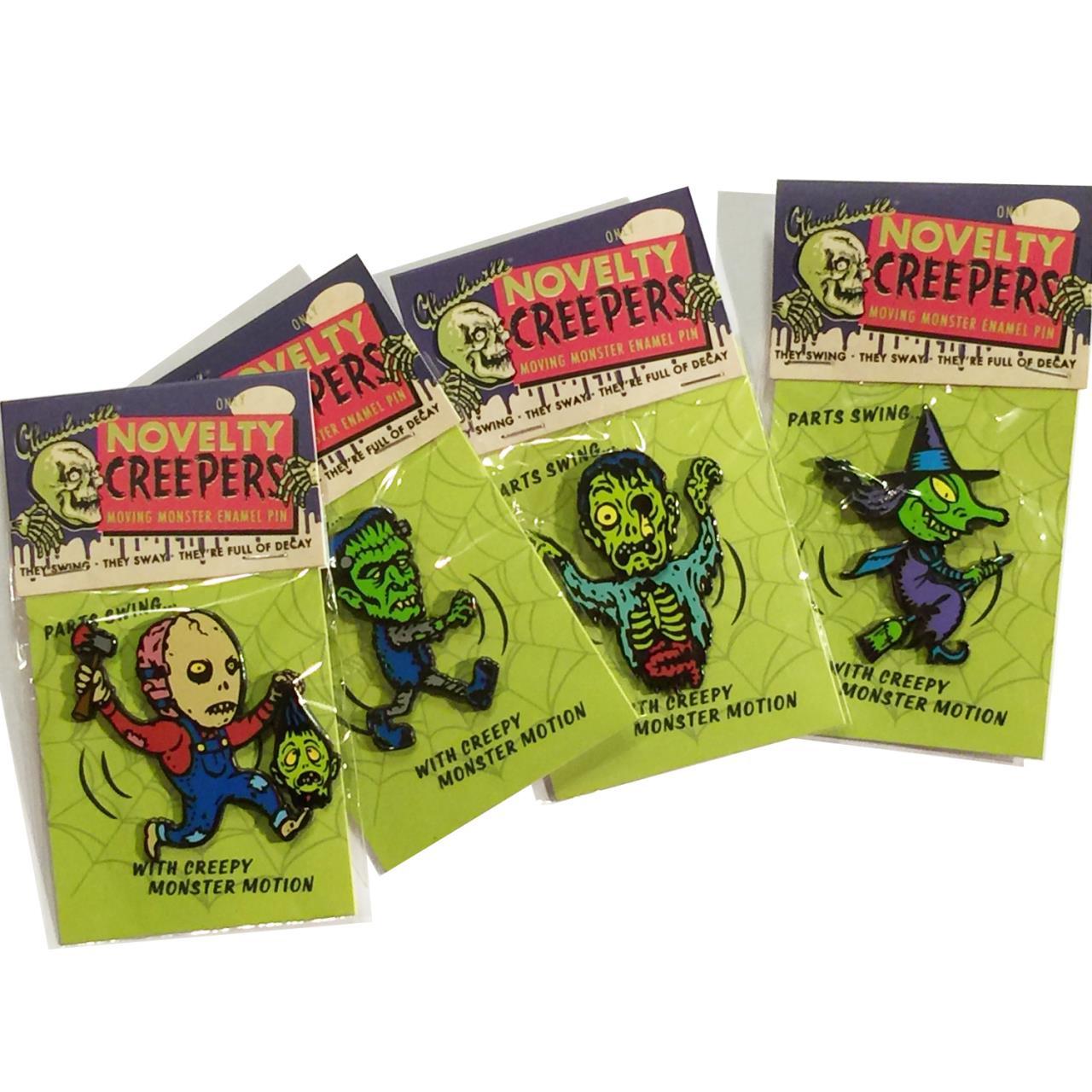 Set Of 4 Creeper Novelty Pins* -
